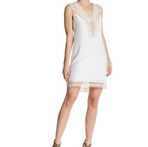 Ella Moss white silk shift dress size Small